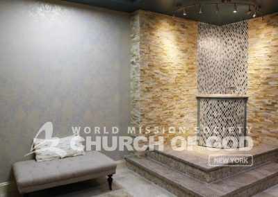 World Mission Society Church of God in New Windsor, baptism room