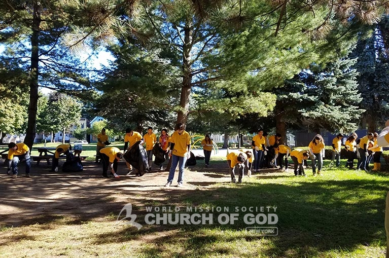 environmental cleanup in albany, world mission society church of god, albany, new york, wmscog, Swinburne park, Livingston Park