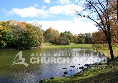 World Mission Society Church of God in New Windsor, pond