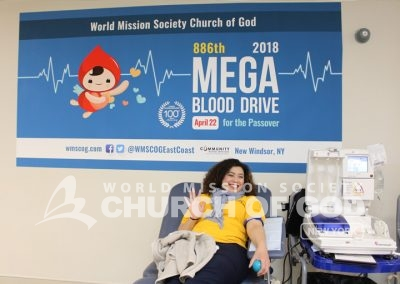 World Mission Society Church of God, wmscog, blood drive, volunteerism, donation, community blood services, new windsor, new york, ny, saving lives, Christian, Passover, New Covenant