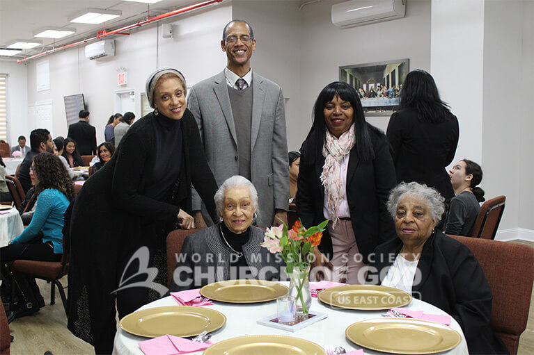 A family celebrating Mother's Day 2019 at the World Mission Society Church of God.