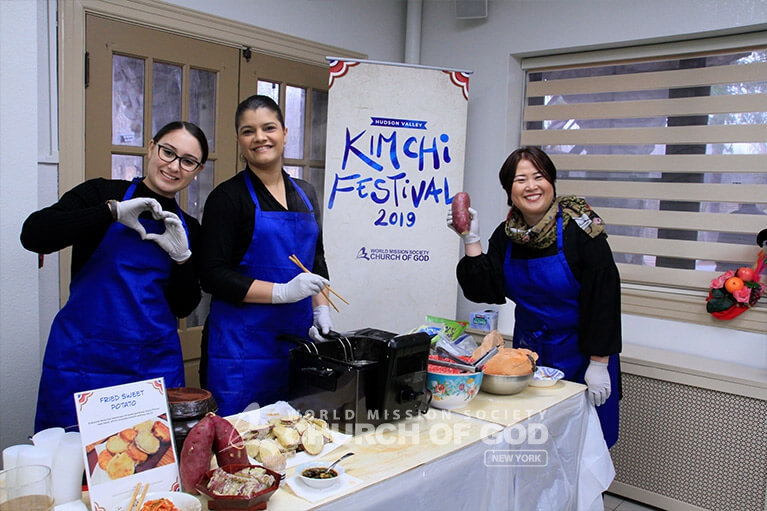 Serving international cuisine at the Hudson Valley Kimchi Festival.